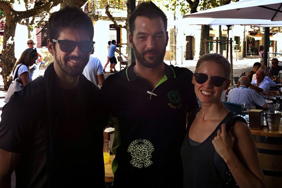 Actores Vellés y Muñoz en Gran Sol