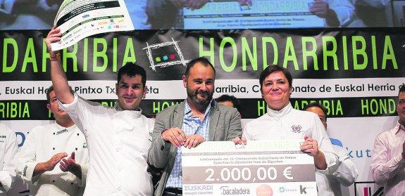 Hondarribia. Cto de Euskadi de Pintxos. Segundo premio